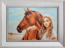 "A Beautiful Gift: ""Best of Friends"", an Original Oil Painting"