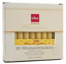 """Eika Box of 20 Finest 100% Beeswax Tree Candles High: 4.13"""" ø: 0.48"""" Inches"""