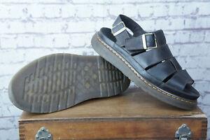 Dr.Martens FLASH Fisherman Leather Sandals UK 10 EU 45 US 11 Men's Dark Brown