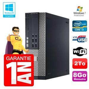 PC Dell 7010 SFF Intel I3-2120 RAM 8Go Disque 2To DVD Wifi W7