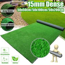 Artificial Turf Grass Synthetic Realistic Indoor Outdoor Mat Fake Lawn Carpet