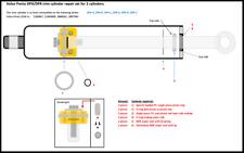 Volvo Penta DPH / DPR trim cylinder rebuild set (for 2 cylinders)