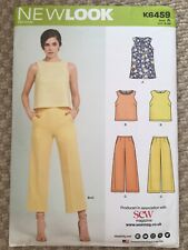 New Look Sewing Pattern Ladies Sleevless Summer Top & Trousers US Size 8-20