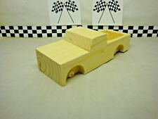 Pinewood Derby Pre-cut #Z-17 Base Chevy Pickup With Box! Create your own Truck!