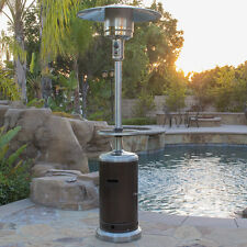 Hammered Bronze and Stainless Steel Propane Gas Patio Heater + Table 48,000 BTU
