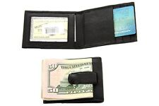 Lot of 12 Leather Magnetic Money Clip Credit ID Holder Wholesale Dozen Black