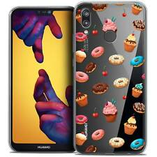 """Coque Crystal Gel Pour Huawei P20 LITE (5.84"""") Souple Foodie Donuts"""