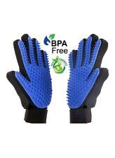 NEW PAIR Of Pet Grooming Gloves Brush Dog Cat Fur Hair Remover Mitt Deshedding
