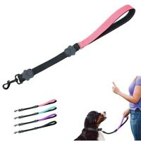 50cm Dog Short Lead Close Control Training Elastic Leash with Padded Handle Pink