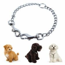 Double Pet Dog Puppy Coupler Chain Leash Stainless Steel 2 Way Walking Lead AU