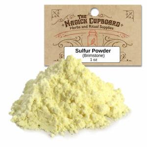 Sulfur Powder (Brimstone) 1 oz Package Protection Spells Banishing Witchcraft