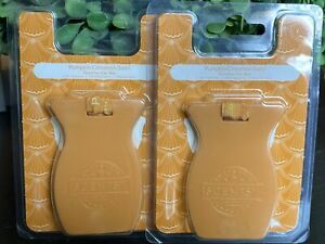 Scentsy 2 Packs of Car Bar Pumpkin Cinnamon Swirl Car Air Freshener NEW