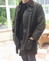 Barbour Wax Jacket Northumbria Green C38