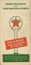 1947 TEXACO Paper Is Precious Road Map OREGON WASHINGTON IDAHO MONTANA WYOMING