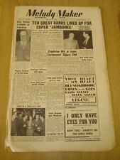 MELODY MAKER 1950 AUGUST 26 JAZZ JAMBOREE BILLY COTTON LONDON PALLADIUM