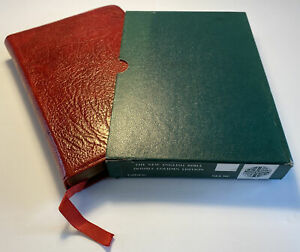The New English Bible, 1972 Vintage, Red Calfskin Leather, Boxed