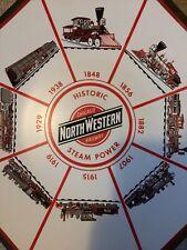 Chicago & Northwestern Railway Wall Art Plate Steam Power Vtg Trains Railroad