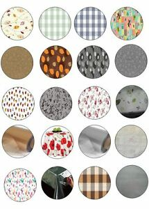 ROUND ALL OCCASIONS TABLE CLOTH PROTECTORS OIL VINYL PLASTIC CLOTH PRINTED PLAIN