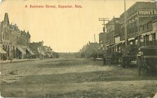 1914 A Business Street, Superior, Nebraska Postcard