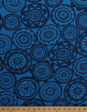 Cotton Home Decor Weight Flowers Floral Blue Upholstery Fabric By Yard D254.02
