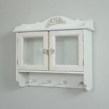 Rose detailed wall cabinet french shabby chic vintage french style wall storage