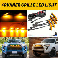 4pcs Set Grille Led Amber Yellow Lights For Toyota 4Runner TRD Pro 2014-2019 EOA