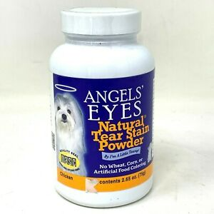 Angels Eyes Natural Tear Stain Powder for Dog & Cats 2.65oz Chicken NEW Exp 3/22