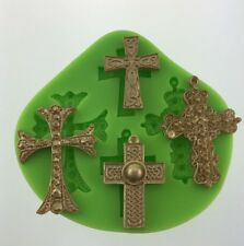 Cross Silicone Mould Cake Decoration Chocolate Fimo Polymer for Cake Toppers