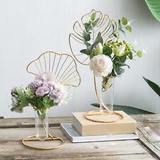 Art Vase Blätter Stehen Blumentöpfe Hydroponic Plant Glass Planter