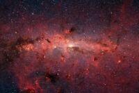 A1 | Red Space Nebula Poster Art Print 60 x 90cm 180gsm Galaxy Universe #8094