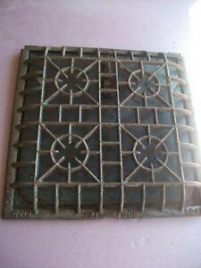 "Heat Air Grate Wall Register Curved Edge  LOCK WELL Brand 1906 10"" x 10"""
