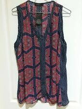 Just Jeans Pink,blue White Long Tunic Top 16 BNWT
