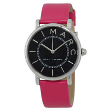 Marc Jacobs Roxy Black Dial Ladies Pink Leather Watch MJ1535
