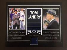 TOM LANDRY DALLAS COWBOYS OLD TEXAS STADIUM SEAT 8 X 10 COA