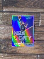2019-2020 NBA Hoops Premium Stock Luka Doncic #30 NBA City Silver Prizm