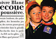 PUBLICITE ADVERTISING 094  1989  POIVRE BLANC   mode enfants ( 2 pages)