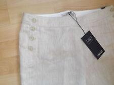 Straight Leg Linen Plus Size 30L Trousers for Women