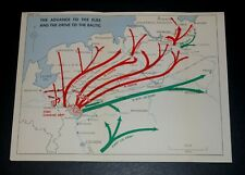 WW2 D-Day Map of THE ADVANCE TO THE ELBE & THE DRIVE TO THE BALTIC 1945