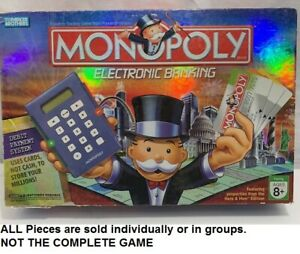 U-PICK Monopoly Electronic Banking Edition Replacement Parts & Pieces 2007