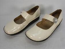 ALEGRIA PG LITE ALG-P3 OFF-WHITE PATENT LEATHER MARY JANE CLOGS SHOES WOMEN'S 40