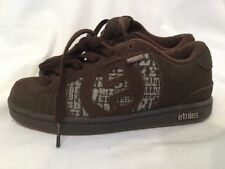 Etnies Boys Capital Kids Childrens Brown Suede Skate Shoes UK Size 2 BNWOB