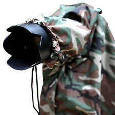 Matin Camera RAIN COVER Camouflage Army Dazzle Woodland (L) for Canon Nikon Sony