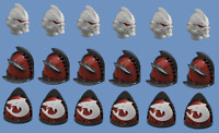 Carcharodons Shoulderpads and Helmets, Jawsome Shark Pack, 40k, primaris