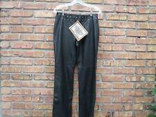 Harley Davidson Black Leather Motorcycle Pants Women's Size 34 / 6  Studs