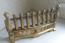 LOVELY VINTAGE HEAVY BRASS FIRE FRET FRONT GRATE FIRESIDE -  14 1/2 x 8 inches