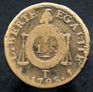 1 SOL aux balances 1793 T - FRANCE - Nantes
