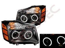 G3 Super Bright Halo Projector Headlights For 04-07 Nissan Titan Armada Black