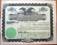 1912 Mining Stock Certificate: 'Haughten French Coal Co.' - Detroit, Michigan MI