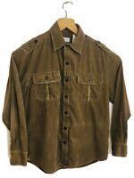 "Nevada Heavyweight 100% cotton corduroy brown shirt size Medium pit to pit 23"""