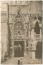 Primi '900 Venezia Porta Della Carta Palazzo Ducale Donna Bimbo FP B/N VG ANIM